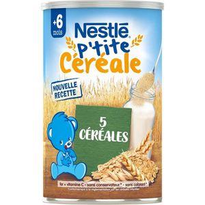 CÉRÉALES BÉBÉ NESTLÉ P'tite Céréale 5 Céréales - 400 g - Dès 6 m