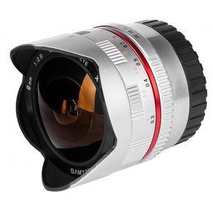 OBJECTIF Samyang 8mm Fisheye F2,8 II Canon M Silver