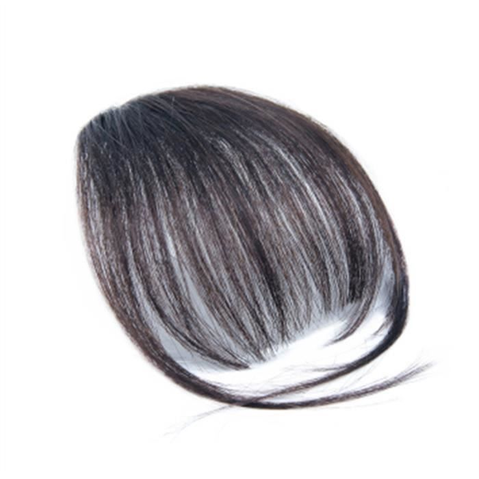 Pince à la mode en une frange - frange - extensions de cheveux Faux morceaux de cheveux (couleur naturelle)