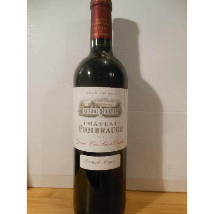 saint-émilion château fombrauge grand cru rouge 2005 - bordeaux france