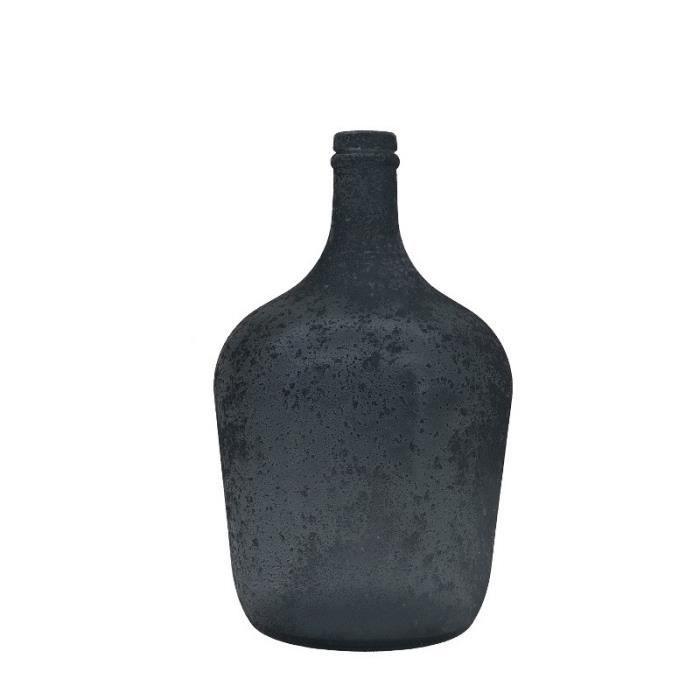 Vase Bouteille en Verre Recyclé Projeter 30 cm x ø18 cm - 020311-Vase