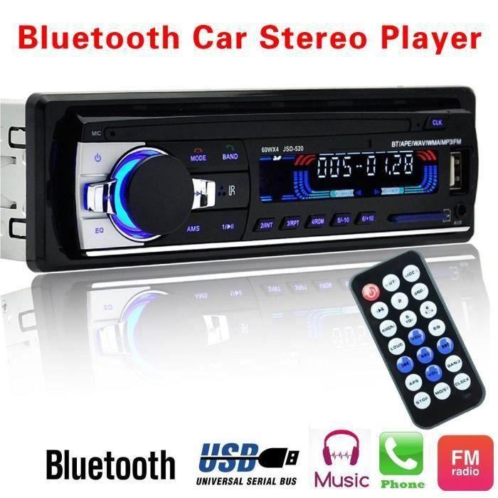 JL Autoradio MP3-Bluetooth-USB 12V Radio FM1 Din in Dash USB - SD - AUX Voiture - JLCYD821DA5641