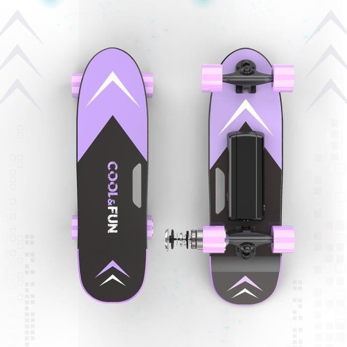 Skateboard Electrique Longboard 4 roues mini Planche À Roulettes Batterie LG avec Télécommande