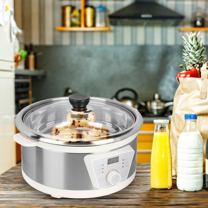 4L Multifonctionnel électrique Hot Pot électrique nourriture vapeur tasse de chauffage en acier inoxydable (EU Plug 220 V) -OLL