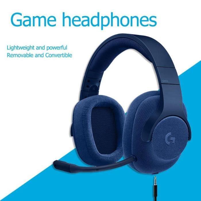LOGITECH Micro Casque Gamer G433 Pour PC, PS4, Xbox One et Nintendo Switch - Bleu