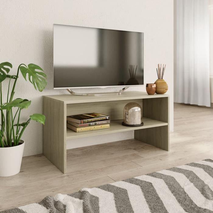 LEUCH Meuble TV Chêne sonoma 80 x 40 x 40 cm Aggloméré 9386398947747