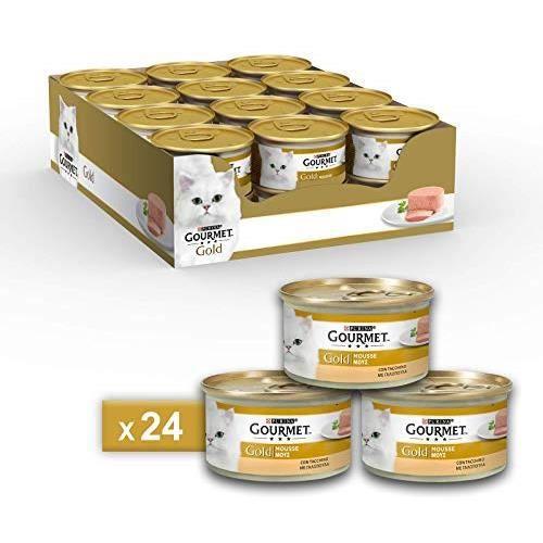 Gourmet Gold Mousse pour Le Chat, avec Dinde 85 g – Lot de 24 pièces 12130939
