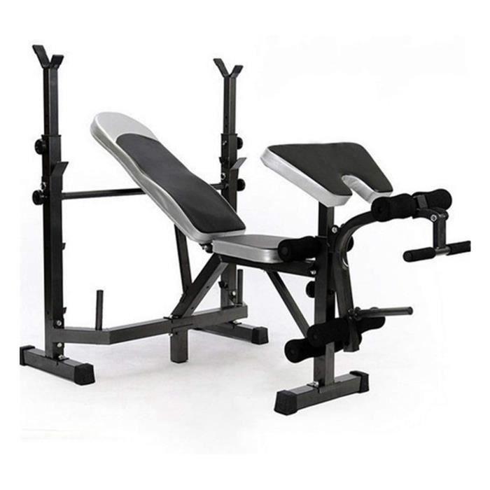 KirinSport Banc de musculation Support de squat d'haltères de ménage Banc multifonctionnel Équipement d'entraînement