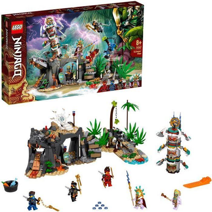 LEGO® 71747 NINJAGO® Le village des Gardiens Jeu de Construction avec Les Minifigurines Ninja Cole, Jay et Kai, Enfant de 8 Ans et +
