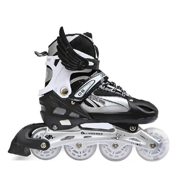 Roller In Line,Patins à Roulettes Adjustable and Padded Noir