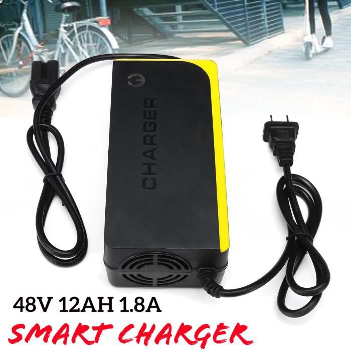 48V 12AH Chargeur de batterie plomb acide Pour Électrique Vélo Moto Scooter