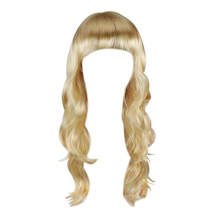 perruque blonde 20 Longs Cheveux Ondulés Fête Costumée Vêtements de Déguisement Costumes