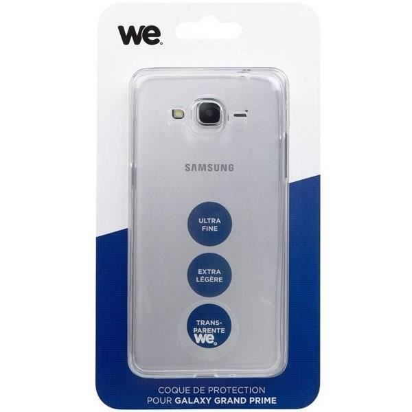 WE Coque de protection pour Samsung Galaxy Grand Prime en TPU semi rigide - Transparente