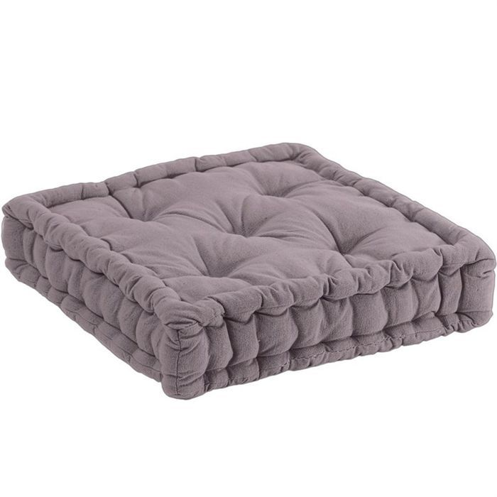 united coussin de sol gris 45 x 45 x10 cm achat vente coussin cdiscount. Black Bedroom Furniture Sets. Home Design Ideas
