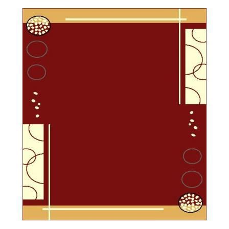 Tapis contemporain de salon rouge floky achat vente for Tapis salon contemporain