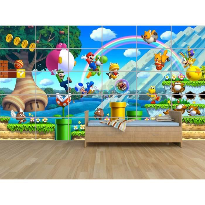 MARIO BROS STAGE GEANT POSTER CHAMBRE ENFANTS ROOM KIDS