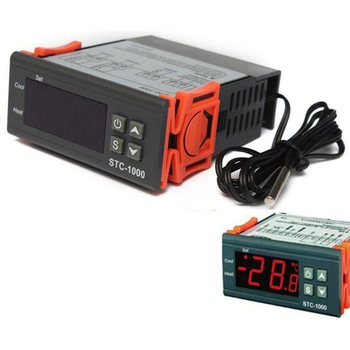 THERMOSTAT D'AMBIANCE JZ 220-240V Thermostat Controleur Sonde Températur