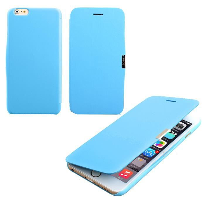 Coque housse etui aimante iphone 6 4 7 bleu achat for Etui housse iphone 4