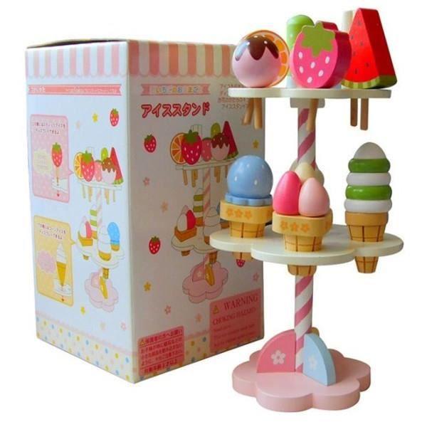 ASSEMBLAGE CONSTRUCTION Bébé jouets Simulation magnétique crème glacée en