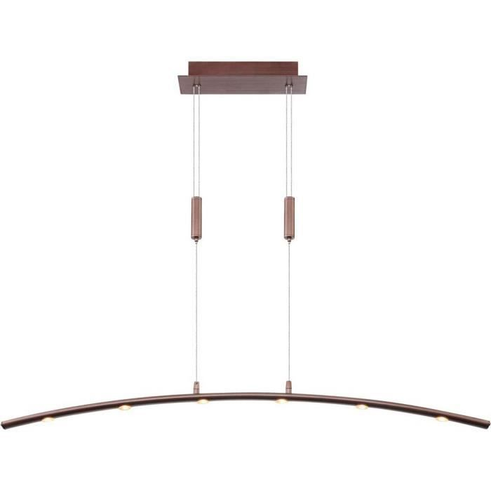 suspension del 30 watts r glable en hauteur lustre luminaire de plafond m tal bronce clairage. Black Bedroom Furniture Sets. Home Design Ideas