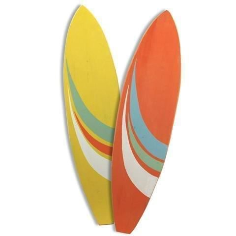 figurine planche de surf x2 couleurs 108 cm achat vente statue statuette cdiscount. Black Bedroom Furniture Sets. Home Design Ideas