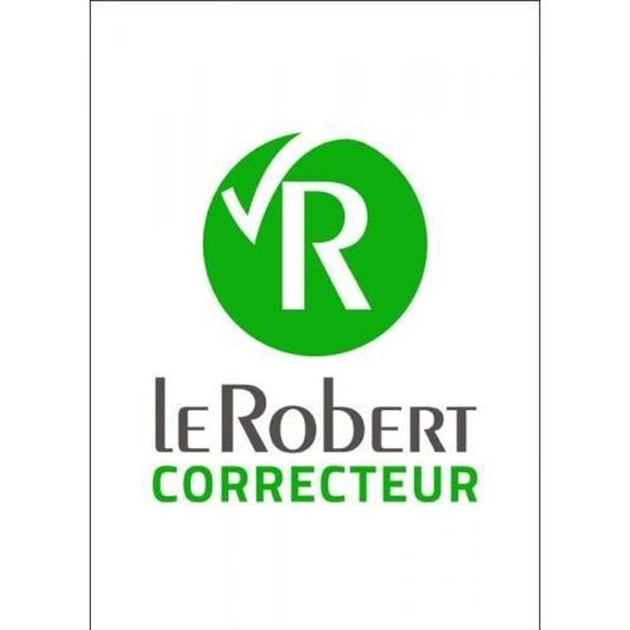LANGUE À TÉLÉCHARGER Le Robert Correcteur - Nouvelle version-(PC-Mac en