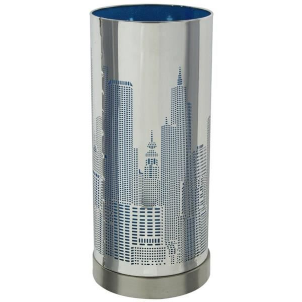 lampe touch new york avec variateur modele bleu achat. Black Bedroom Furniture Sets. Home Design Ideas