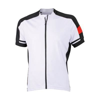 maillot cycliste homme zip int g blanc achat vente maillot polo maillot cycliste homme. Black Bedroom Furniture Sets. Home Design Ideas