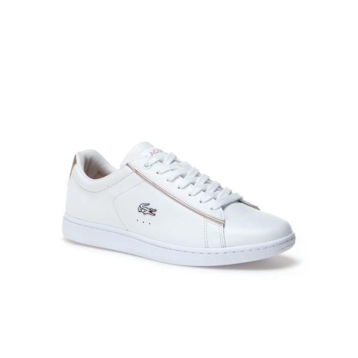54f106fe00d LACOSTE CARNABY EVO 33SPW0013216 BLANCHE OR - Achat   Vente basket ...