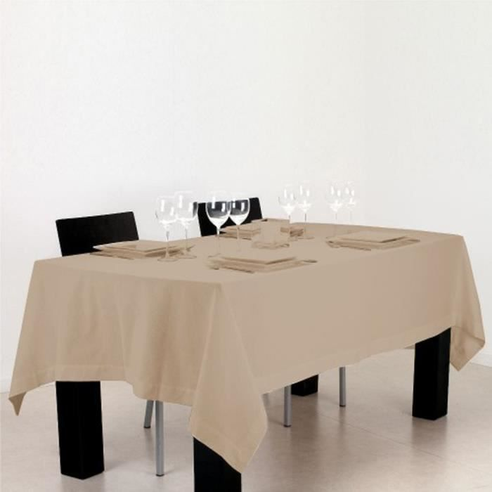 nappe rectangulaire en coton lin p150 x l250 cm achat vente nappe de table cdiscount. Black Bedroom Furniture Sets. Home Design Ideas
