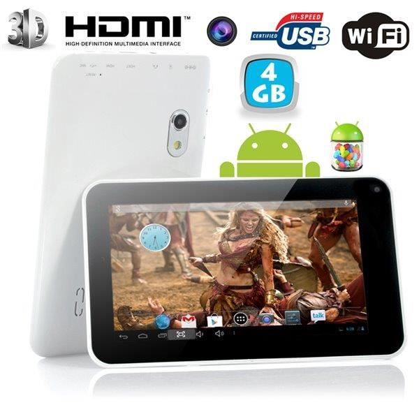 Tablette tactile android 4 2 jelly bean 7 pouces yonis - Tablette tactile chez hyper u ...