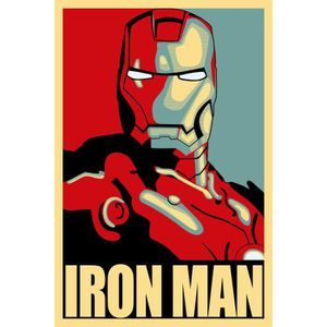 poster a3 film comics marvel iron man wall art achat vente affiche cdiscount. Black Bedroom Furniture Sets. Home Design Ideas