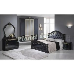 Chambre à coucher model EVA noir - Achat / Vente chambre ...