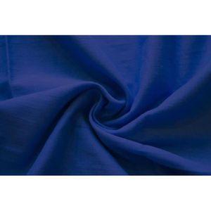 TISSU Tissu Voile Uni 100% Coton Bleu Roi -Au Mètre