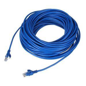 CÂBLE RÉSEAU  Câble Réseau Cat5e LAN Ethernet Cristal Tête RJ-45