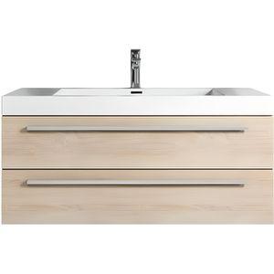 SALLE DE BAIN COMPLETE Meuble de salle de bain Rome 100cm lavabo Chêne cl