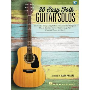 PARTITION 30 Easy Folk Guitar Solos