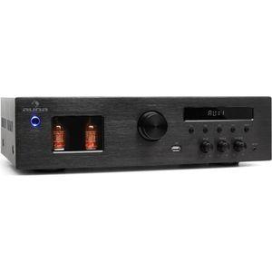 AMPLIFICATEUR HIFI auna Tube 65 - Ampli à lampes avec tuner radio FM