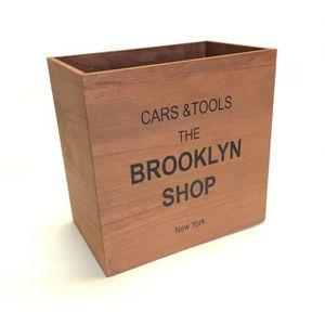 CASIER POUR MEUBLE Cube en bois Brooklyn Marron