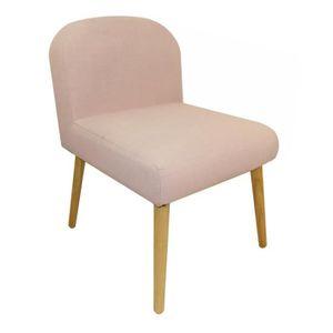 CHAISE Chaise en toile effet lin Oslo