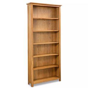 BIBLIOTHÈQUE  Bibliothèque à 6 étagères Chêne 80 x 22,5 x 180 cm