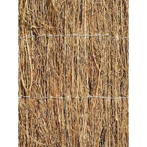 HAIE DE JARDIN Canisse en broussaille - 4m x 1.2m (Épaisse)