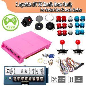 CONSOLE RÉTRO DIY LED Arcade Mame DIY Kit Set Parts Push Buttons