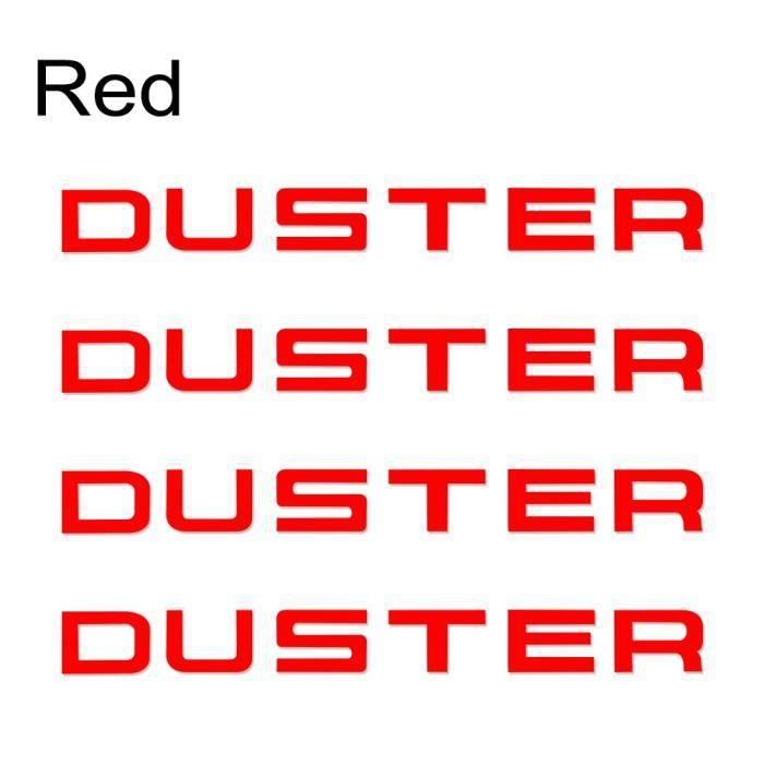 Lettres autocollantes en vinyle pour décoration de voiture, pour Renault Dacia Duster, accessoires pour carrosserie [FD804A0]
