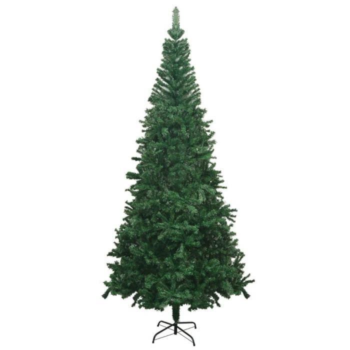 Sapin de Noël artificiel L - 1300 branches - H 240 cm - Arbre de Noël Décoration fête - Vert