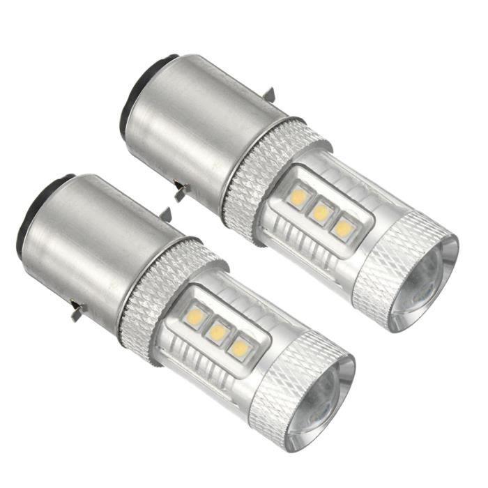 Ampoules H6 BA20D LED 80W 1500LM pour Phare de Voiture 6500K Étanche