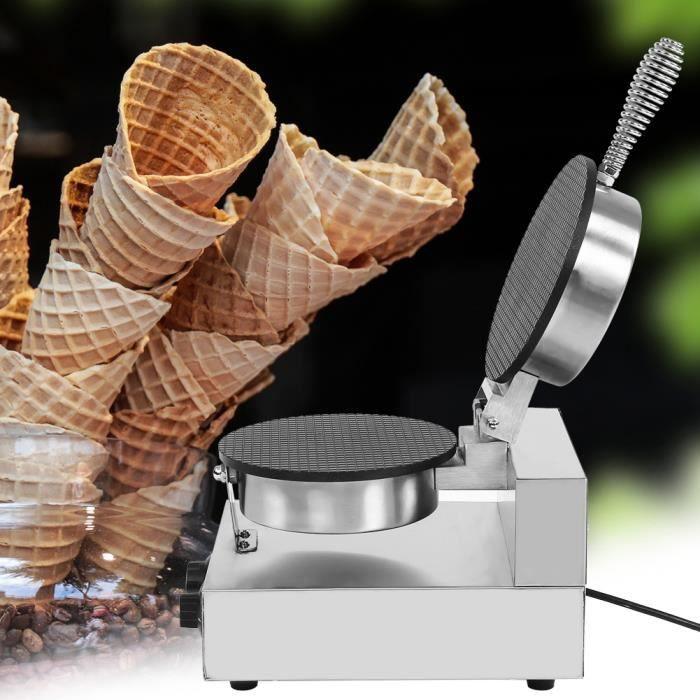 Machine à cône de crème glacée électrique antiadhésive commerciale (220V)