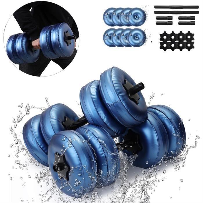 Haltère rempli d'eau Poids de la main Bodybuilding Gym Exercise Bras Muscle Training elle280