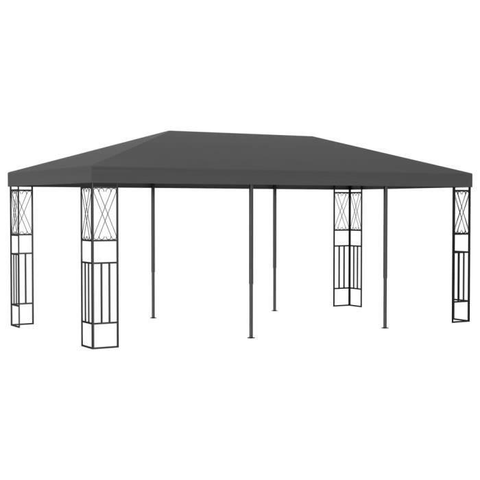 Luxueux - Tonnelle de Jardin Tonnelle Barnum - Belvédère 3x6 m Anthracite Tissu #20496