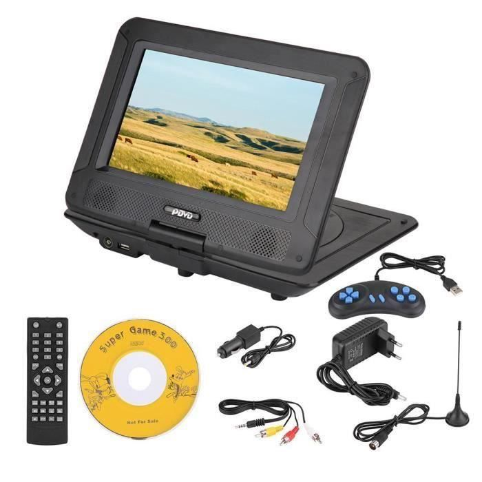 LANQI Lecteur DVD portable 3D stéréo de 9,8 pouces cha?nes de télévision Lecteur DVD HD